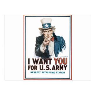 米国市民ポスター、アメリカ。 私はのための…ほしいと思います ポストカード