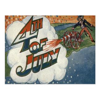 米国市民大砲火は7月第4主演します ポストカード