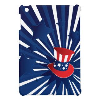 米国市民帽子および星 iPad MINI CASE
