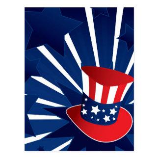 米国市民帽子 ポストカード