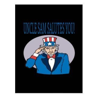 米国市民挨拶 ポストカード