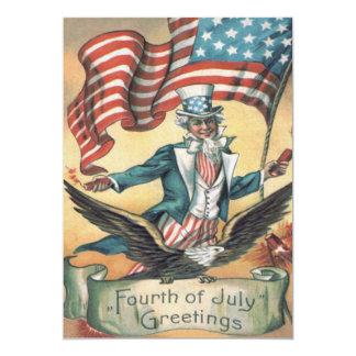 米国市民白頭鷲米国の旗の花火 カード