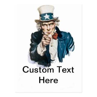 米国市民私はあなたの文字とカスタマイズほしいと思います ポストカード