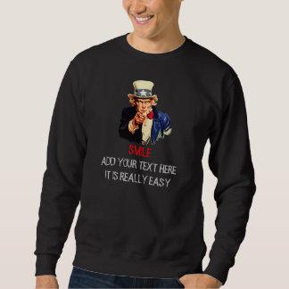 米国市民私はカスタマイズ文字のテンプレートを微笑してほしいです スウェットシャツ