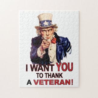 米国市民私は退役軍人のパズルを感謝していしてほしいです ジグソーパズル