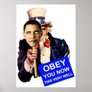 米国市民、オバマ従います ポスター
