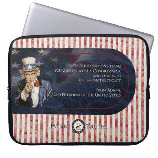 米国市民-ジョン・アダムズのラップトップスリーブ ラップトップスリーブ
