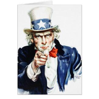 米国市民-ヴィンテージのFlaggポスターからの… カード