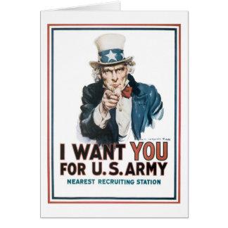 """米国市民""""私はほしいと思います! """" カード"""