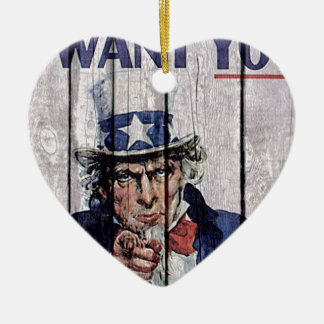 """米国市民""""私はほしいと思います"""" セラミックオーナメント"""