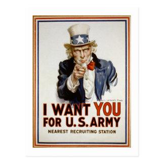 米国市民-私はほしいと思います ポストカード