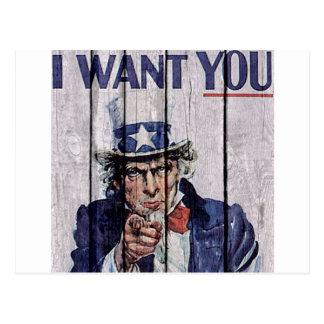 """米国市民""""私はほしいと思います"""" ポストカード"""