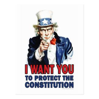 米国市民: 私は憲法を保護してほしいです ポストカード
