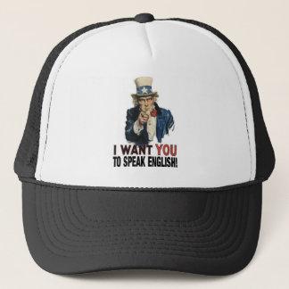 米国市民-私は英語を話してほしいです! キャップ