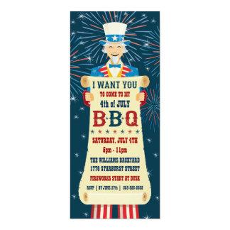 米国市民BBQの招待状 カード