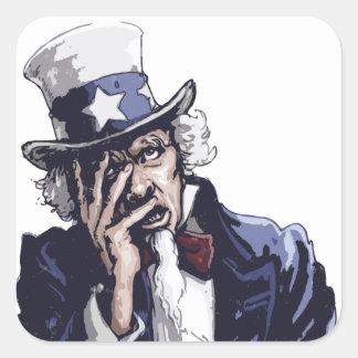 米国市民Facepalm 正方形シール・ステッカー