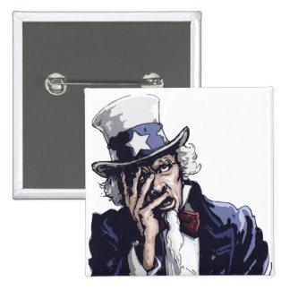 米国市民Facepalm 5.1cm 正方形バッジ