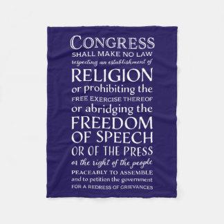米国憲法修正第一項の覆いあなた自身-言論の自由 フリースブランケット