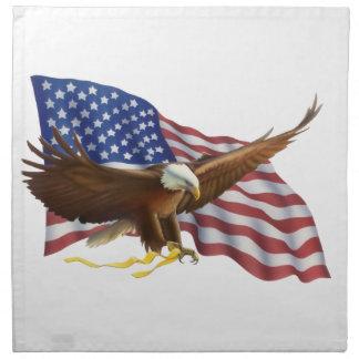 米国旗およびワシ ナプキンクロス