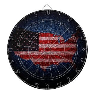 米国旗および地図#2 ダーツボード