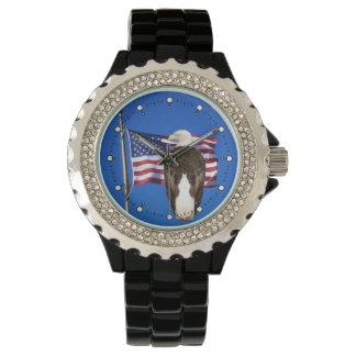 米国旗および白頭鷲 腕時計