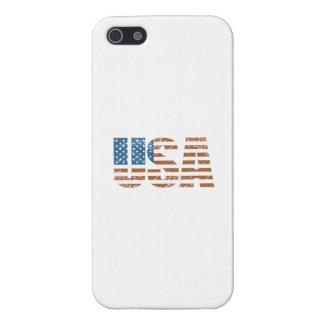 米国旗が付いているヴィンテージ米国の手紙 iPhone 5 ケース