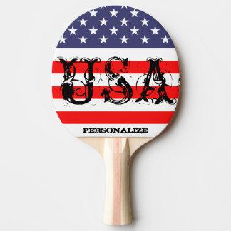 米国旗が付いている愛国心が強い米国の卓球ラケット 卓球ラケット