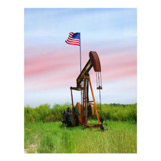 米国旗が付いている油ポンプ チラシ