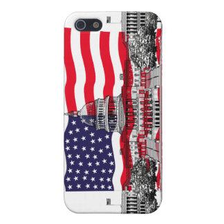 米国旗が付いている米国の国会議事堂の建物 iPhone 5 COVER