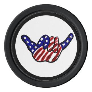 米国旗のこつの緩くカスタムなポーカー用のチップ ポーカーチップセット