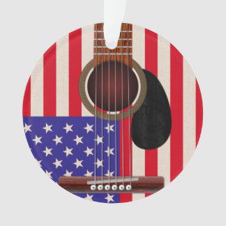 米国旗のギター オーナメント