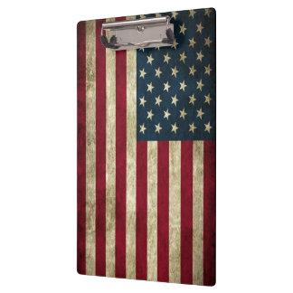 米国旗のクリップボード クリップボード