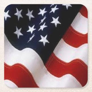 米国旗のコースター スクエアペーパーコースター