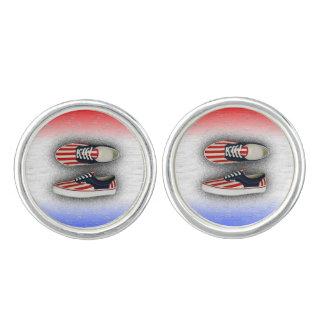 米国旗のスニーカー カフリンク