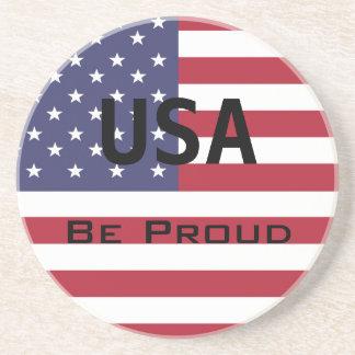 米国旗のテンプレート コースター