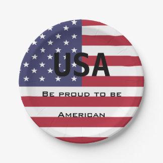 米国旗のテンプレート ペーパープレート