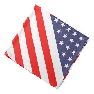 米国旗のバンダナ|の愛国心が強い星は及び縞で飾ります バンダナ