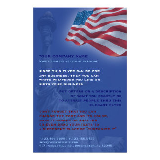 米国旗のフライヤ チラシ