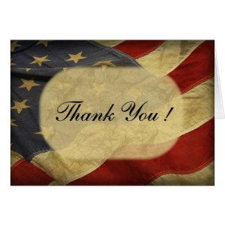 米国旗のブランクの内部は感謝していしています カード
