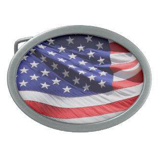 米国旗のベルトの留め金 卵形バックル