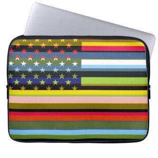 米国旗のポップアート3 ラップトップスリーブ