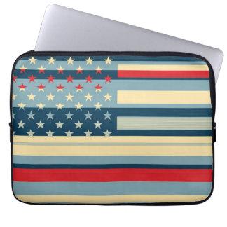 米国旗のポップアート5 ラップトップスリーブ