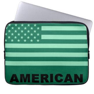 米国旗のポップアート ラップトップスリーブ