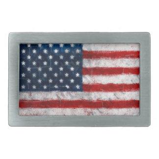米国旗のポートレートのベルトの留め金 長方形ベルトバックル
