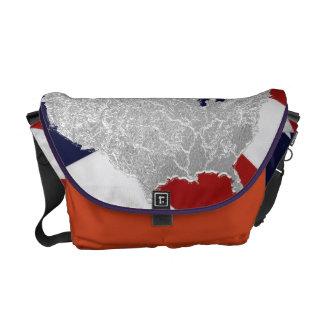 米国旗のメッセンジャーバッグ メッセンジャーバッグ
