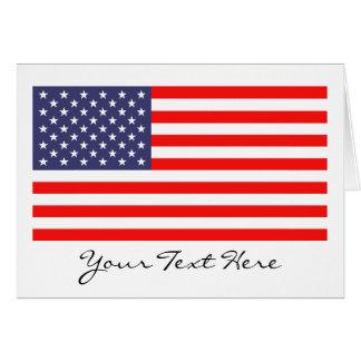 米国旗のメッセージカード カード