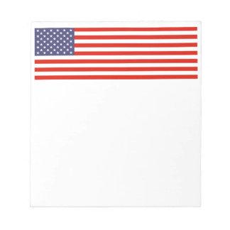 米国旗のメモ帳は|愛国心が強い米国設計します ノートパッド