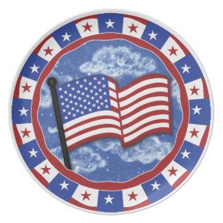 米国旗のメラミンプレート プレート