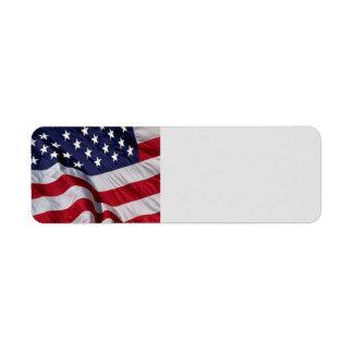 米国旗のラベル ラベル