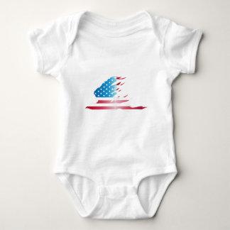 米国旗のワシ ベビーボディスーツ